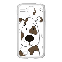 Cute dog Samsung GALAXY S4 I9500/ I9505 Case (White)
