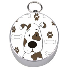 Cute dog Silver Compasses