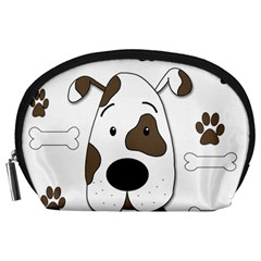Cute dog Accessory Pouches (Large)