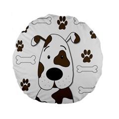 Cute dog Standard 15  Premium Flano Round Cushions