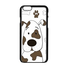 Cute dog Apple iPhone 6/6S Black Enamel Case
