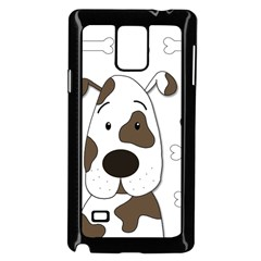 Cute dog Samsung Galaxy Note 4 Case (Black)