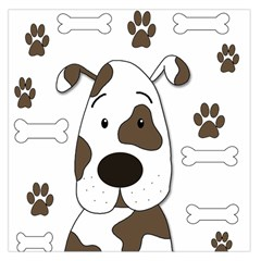 Cute dog Large Satin Scarf (Square)