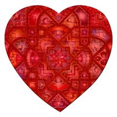 Geometric Line Art Background Jigsaw Puzzle (Heart)