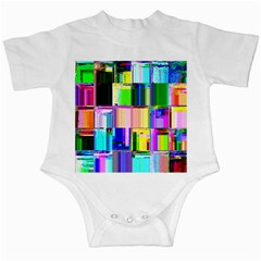 Glitch Art Abstract Infant Creepers