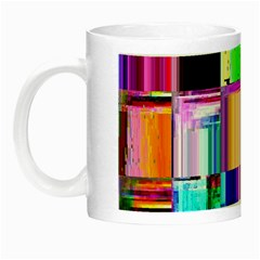 Glitch Art Abstract Night Luminous Mugs