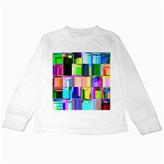 Glitch Art Abstract Kids Long Sleeve T-Shirts