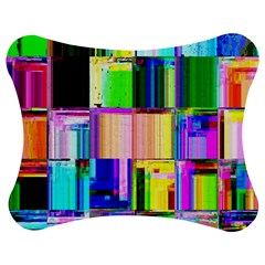 Glitch Art Abstract Jigsaw Puzzle Photo Stand (Bow)