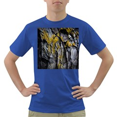 Grey Yellow Stone Dark T-Shirt