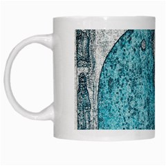 Mother Mary And Infant Jesus Christ  Blue Portrait Old Vintage Drawing White Mugs