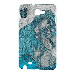 Mother Mary And Infant Jesus Christ  Blue Portrait Old Vintage Drawing Samsung Galaxy Note 1 Hardshell Case