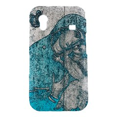 Mother Mary And Infant Jesus Christ  Blue Portrait Old Vintage Drawing Samsung Galaxy Ace S5830 Hardshell Case