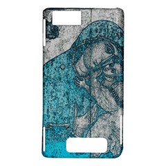Mother Mary And Infant Jesus Christ  Blue Portrait Old Vintage Drawing Motorola DROID X2