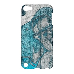 Mother Mary And Infant Jesus Christ  Blue Portrait Old Vintage Drawing Apple iPod Touch 5 Hardshell Case