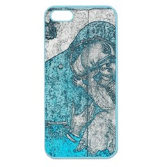 Mother Mary And Infant Jesus Christ  Blue Portrait Old Vintage Drawing Apple Seamless iPhone 5 Case (Color)