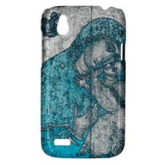 Mother Mary And Infant Jesus Christ  Blue Portrait Old Vintage Drawing HTC Desire V (T328W) Hardshell Case