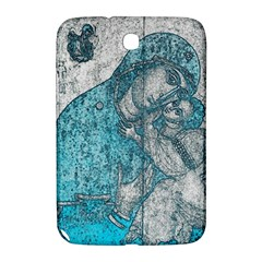Mother Mary And Infant Jesus Christ  Blue Portrait Old Vintage Drawing Samsung Galaxy Note 8.0 N5100 Hardshell Case
