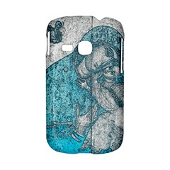 Mother Mary And Infant Jesus Christ  Blue Portrait Old Vintage Drawing Samsung Galaxy S6310 Hardshell Case