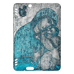 Mother Mary And Infant Jesus Christ  Blue Portrait Old Vintage Drawing Kindle Fire HDX Hardshell Case