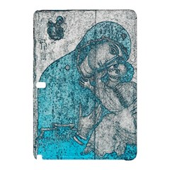 Mother Mary And Infant Jesus Christ  Blue Portrait Old Vintage Drawing Samsung Galaxy Tab Pro 10.1 Hardshell Case