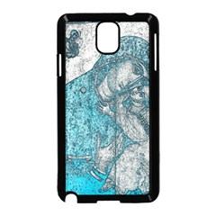 Mother Mary And Infant Jesus Christ  Blue Portrait Old Vintage Drawing Samsung Galaxy Note 3 Neo Hardshell Case (Black)