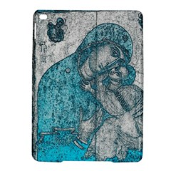 Mother Mary And Infant Jesus Christ  Blue Portrait Old Vintage Drawing iPad Air 2 Hardshell Cases