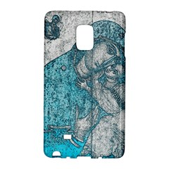 Mother Mary And Infant Jesus Christ  Blue Portrait Old Vintage Drawing Galaxy Note Edge