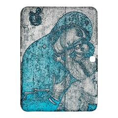 Mother Mary And Infant Jesus Christ  Blue Portrait Old Vintage Drawing Samsung Galaxy Tab 4 (10.1 ) Hardshell Case