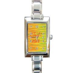 Chill out Rectangle Italian Charm Watch