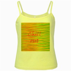 Chill out Yellow Spaghetti Tank