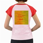 Chill out Women s Cap Sleeve T-Shirt Back