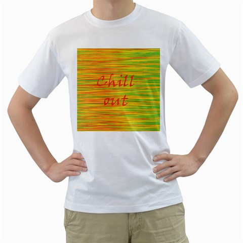 Chill out Men s T-Shirt (White) (Two Sided)