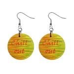 Chill out Mini Button Earrings Front