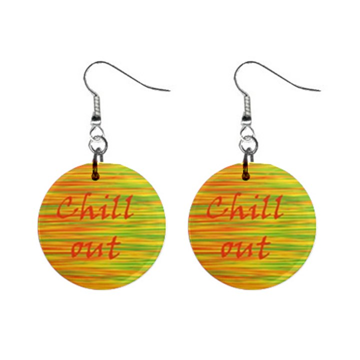 Chill out Mini Button Earrings