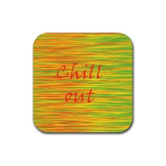 Chill out Rubber Coaster (Square)