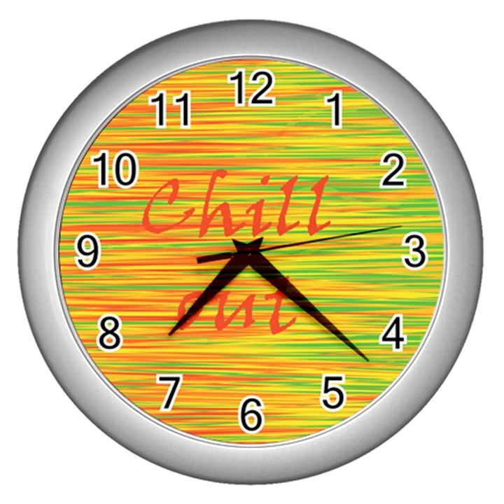 Chill out Wall Clocks (Silver)