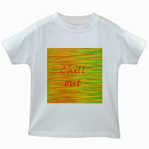 Chill out Kids White T-Shirts