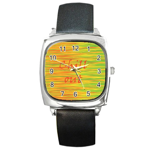 Chill out Square Metal Watch