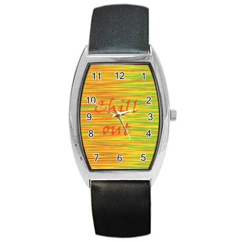 Chill out Barrel Style Metal Watch