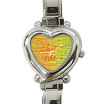 Chill out Heart Italian Charm Watch Front