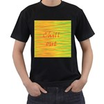 Chill out Men s T-Shirt (Black) (Two Sided) Front