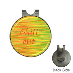 Chill out Hat Clips with Golf Markers