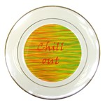 Chill out Porcelain Plates Front