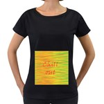 Chill out Women s Loose-Fit T-Shirt (Black) Front