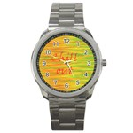Chill out Sport Metal Watch Front