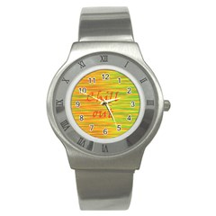Chill out Stainless Steel Watch