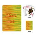 Chill out Playing Card Back