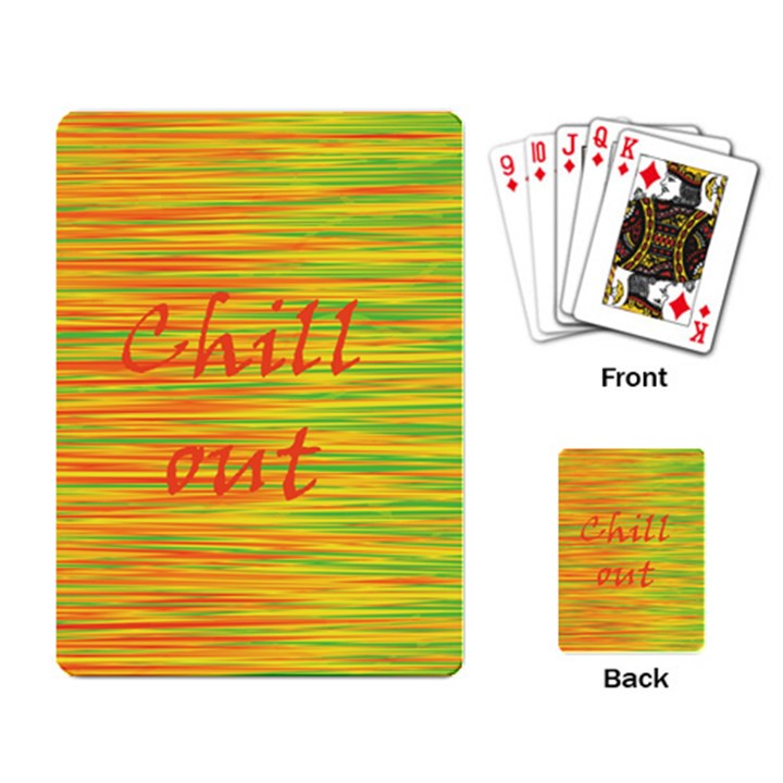 Chill out Playing Card