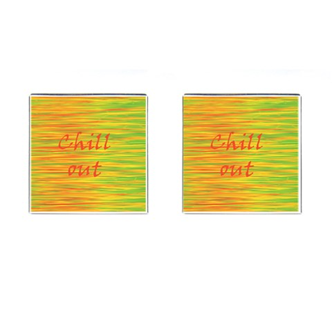 Chill out Cufflinks (Square)