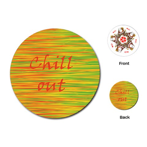 Chill out Playing Cards (Round)